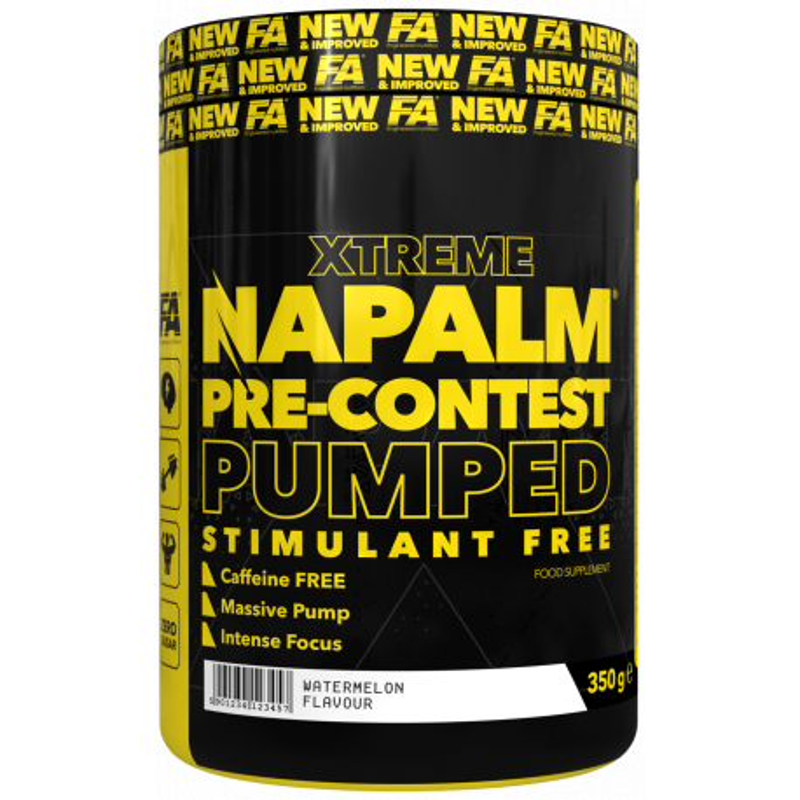 NAPALM Pre-contest pumped stimulant free 350 g