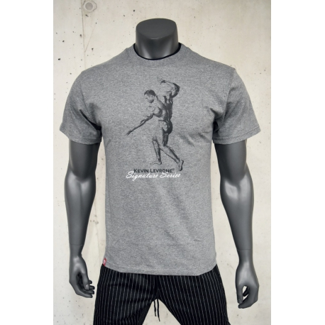 T-SHIRT DOUBLE NECK KEVIN LEVRONE 01 LIGHT HEATHER GREY